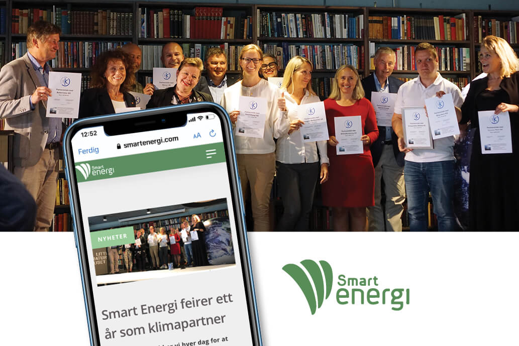 Smart Energi feirer ett år som Klimapartner